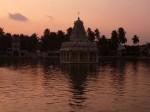 Lake outside the temple