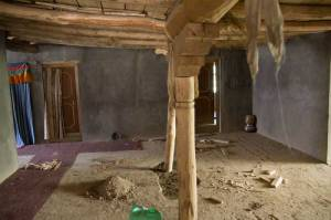 A guest house being built in Zangla. It now has rooms but none with attached toilets. That's next on the agenda.